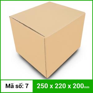 Thùng Carton gói hàng kích thước 250x220x200mm không in