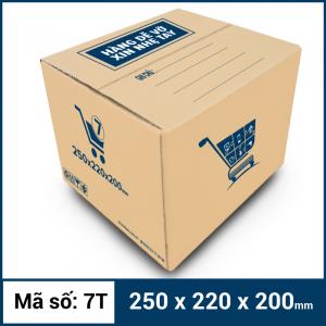 Thùng Carton gói hàng kích thước 250x220x200mm mẫu giỏ hàng