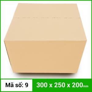 Thùng Carton gói hàng kích thước 300x250x200mm không in