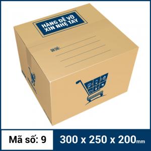 Thùng Carton gói hàng kích thước 300x250x200mm mẫu giỏ hàng