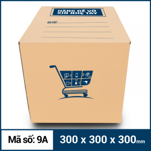 Thùng Carton gói hàng kích thước 300x300x300mm mẫu giỏ hàng