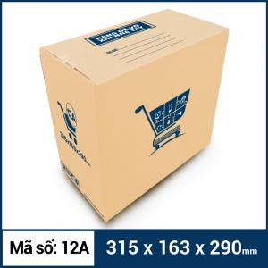 Thùng Carton gói hàng kích thước 315x163x290mm mẫu giỏ hàng