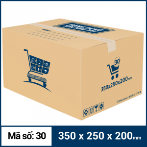 Thùng Carton gói hàng kích thước 350x250x200mm mẫu giỏ hàng