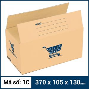 Thùng Carton gói hàng kích thước 370x105x130mm