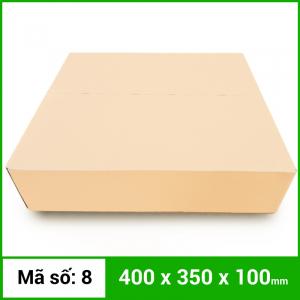 Thùng Carton gói hàng kích thước 400x350x100mm không in