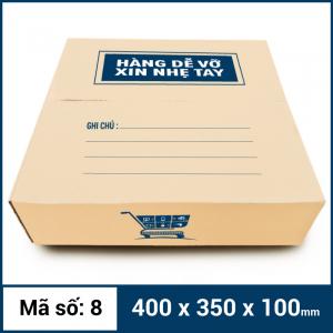 Thùng Carton gói hàng kích thước 400x350x100mm mẫu giỏ hàng