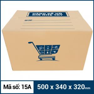Thùng Carton gói hàng kích thước 500x340x320mm mẫu giỏ hàng