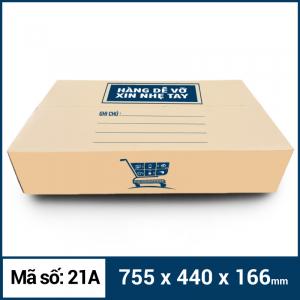 Thùng Carton gói hàng kích thước 755x440x166mm mẫu giỏ hàng