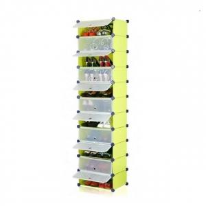 Tủ giày dép đa năng 11 ngăn Tupper Cabinet TC-11Y-W1 (vàng cửa trắng)