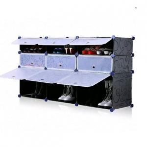 Tủ giày dép đa năng 9 ngăn Tupper Cabinet TC-9B-W (Đen cửa trắng)