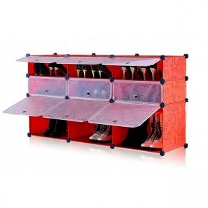 Tủ giày dép đa năng 9 ngăn Tupper Cabinet TC-9R-W (Đỏ cửa trắng)