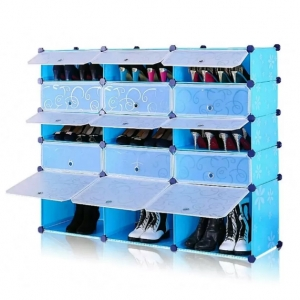 Tủ giày dép nhựa 15 ngăn Tupper Cabinet TC-15BL-W