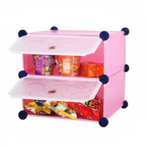 Tủ nhựa 2 ngăn Tupper Cabinet TC-2P-W1 (Hồng cửa trắng)