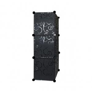 Tủ nhựa 3 ngăn Tupper Cabinet TC-3B (Đen)