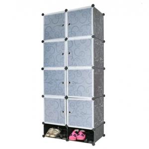 Tủ nhựa đa năng 10 ngăn Tupper Cabinet TC-10B-W2 (đen cửa trắng)