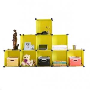 Tủ nhựa đa năng 10 ngăn Tupper Cabinet TC-10Y2 ( vàng )