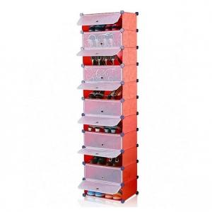 Tủ nhựa đa năng 11 ngăn Tupper Cabinet TC-11R-W1 (đỏ cửa trắng)