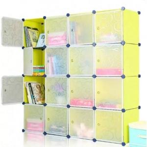 Tủ nhựa đa năng 16 ngăn Tupper Cabinet TC-16Y-W1 (Vàng cửa trắng)