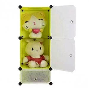 Tủ nhựa đa năng 3 ngăn Tupper Cabinet TC-3Y-W (Vàng cửa trắng)