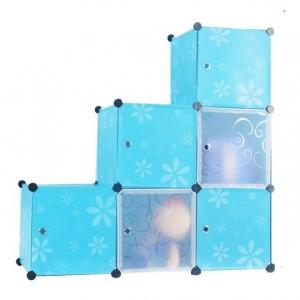 Tủ nhựa đa năng 6 ngăn Tupper Cabinet TC-6BL-W1 (Xanh phối trắng)