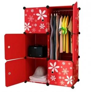 Tủ quần áo đa năng 6 ngăn Tupper Cabinet TC-6R (Đỏ hoa)