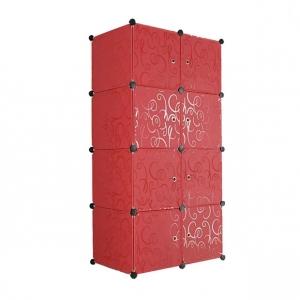 Tủ nhựa đa năng 8 ngăn Tupper Cabinet TC-8R (Đỏ)