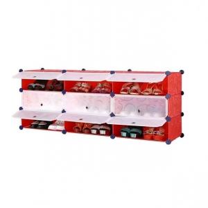 Tủ nhựa đa năng 9 ngăn Tupper Cabinet TC-9R-W1 (Đỏ phối trắng)