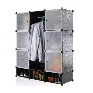 Tủ quần áo đa năng 12 ngăn Tupper Cabinet TC-12B-W2 (đen cửa trắng)