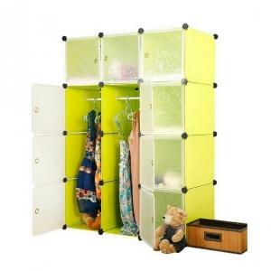 Tủ quần áo đa năng 12 ngăn Tupper Cabinet TC-12Y-W (vàng cửa trắng)