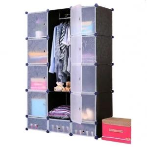 Tủ quần áo đa năng 15 ngăn Tupper Cabinet TC-15B-W (Đen cửa trắng)