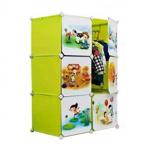 Tủ quần áo đa năng 6 ngăn Tupper Cabinet TC-6Y-C (Vàng cửa hoạt hình)