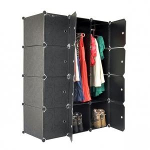 Tủ quần áo đa năng Tupper Cabinet 12 ngăn TC-12B (Đen)