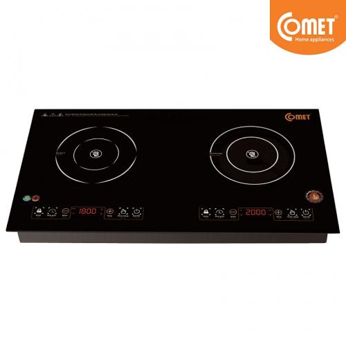 Bếp đôi điện từ và hồng ngoại Comet CM5576-1
