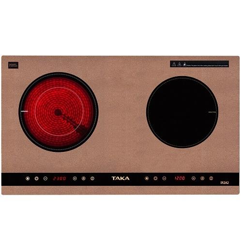 Bếp đôi hồng ngoại điện từ Taka TK-IR2A2