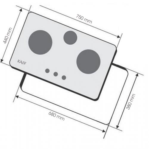 Bếp gas âm KAFF KF-668-1