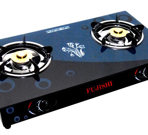 Bếp gas chén nhôm kính cường lực FUJISHI FM-H10-N-1