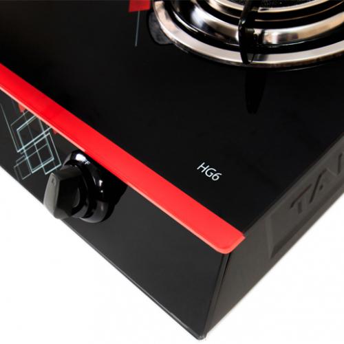 Bếp gas hồng ngoại Taka TK-HG6, Magneto 2 vòng lửa-1