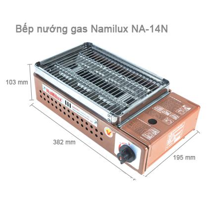 Bếp nướng gas hồng ngoại Namilux NA-14N-1
