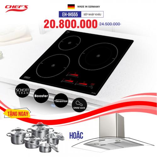 Bếp từ 3 lò cảm ứng CHEFS EH-IH555