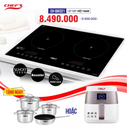 Bếp từ đôi cảm ứng CHEFS EH-DIH321