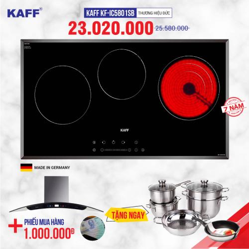Bếp từ đôi hồng ngoại 3 lò cảm ứng KAFF KF-IC5801SB