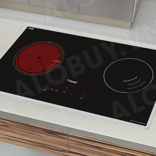 Bếp từ đôi hồng ngoại cảm ứng CANZY CZ-MIX823G-1