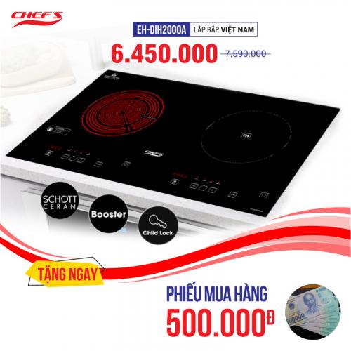 Bếp từ đôi hồng ngoại cảm ứng CHEFS EH-MIX2000A