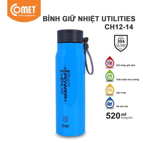 Bình giữ nhiệt Utilities 520ml Comet CH12-14 - Xanh