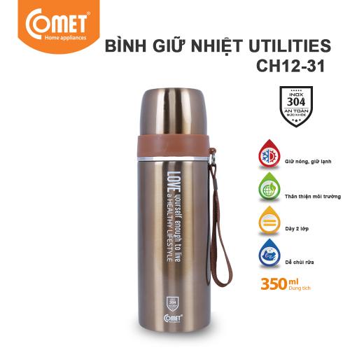 Bình giữ nhiệt Utilities 350ml Comet CH12-31 - Vàng-3