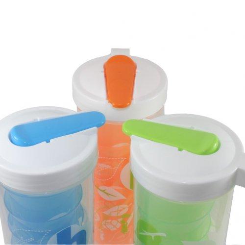 Bộ bình nhựa có 4 ly Homio-1