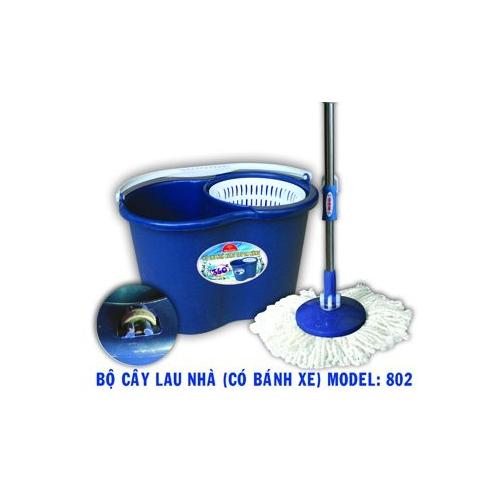 Bộ cây lau nhà Kim Cương 802 - Có bánh xe