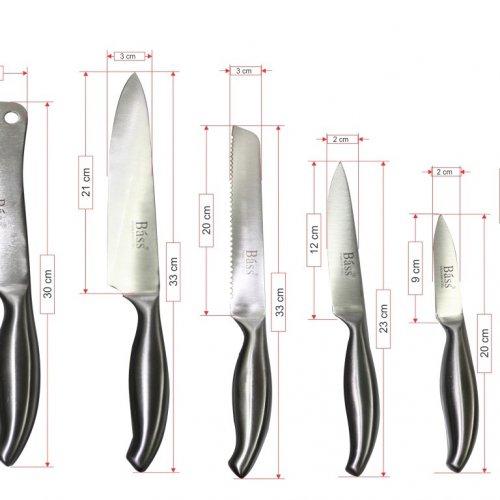 Bộ dao kéo làm bếp 11 món Bass IN.01-004-3