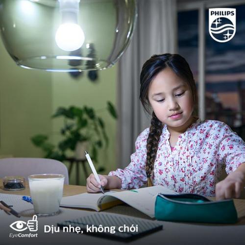 Bóng đèn Philips LED siêu sáng tiết kiệm điện Essential Gen4 5W E27 A60 - Ánh sáng vàng-1