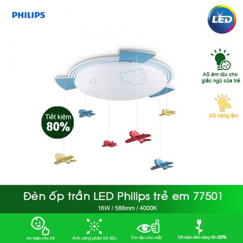 Đèn trần phòng trẻ em Philips 77501 Aeroplane 22W